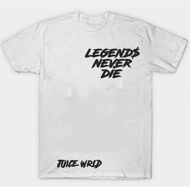 Jucie Wrld x Vlone Legends Never Die White Tee