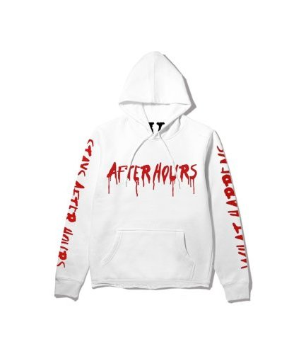 The Weeknd x Vlone After Hours Blood Drip White Hoodie