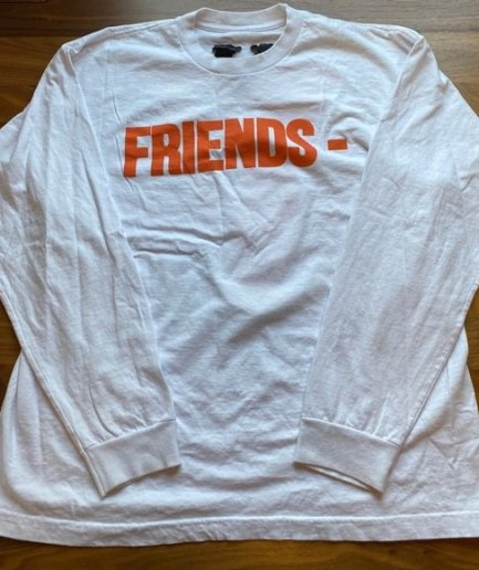VLONE Friends Sweatshirt Orange & White-Front