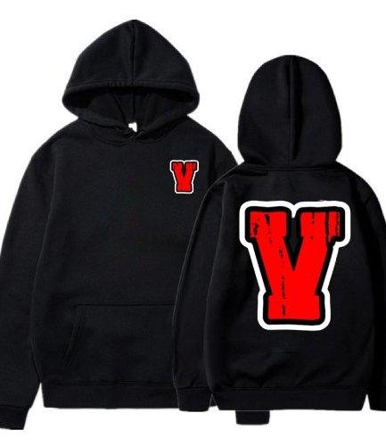 Vlone Red Staple Black Hoodie