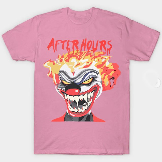 Vlone X The Weeknd After Hours If I OD Clown Pink Tee