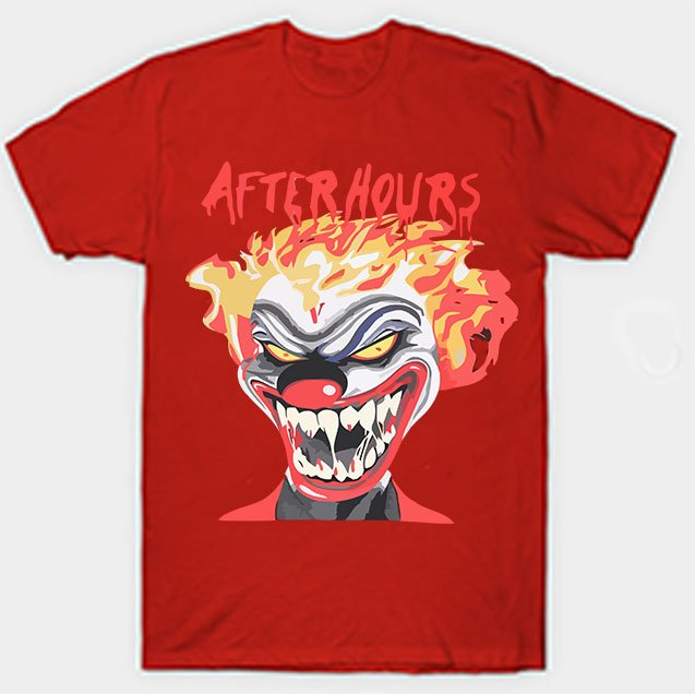 Vlone X The Weeknd After Hours If I OD Clown Red Tee