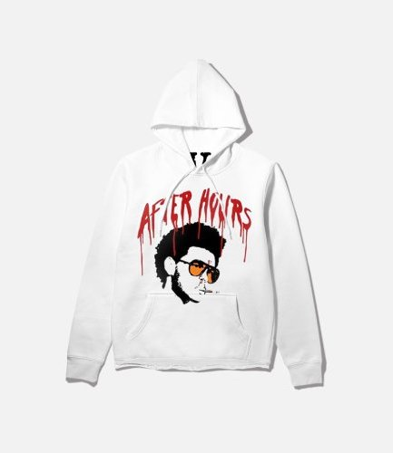 Vlone x After Hours I Afro White Hoodie