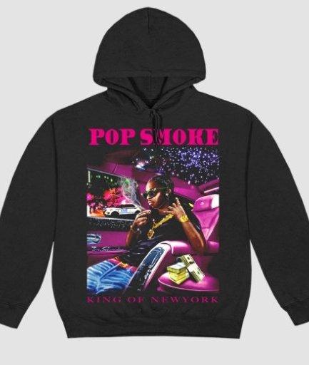 Pop Smoke x Vlone King of NY Black Hoodie