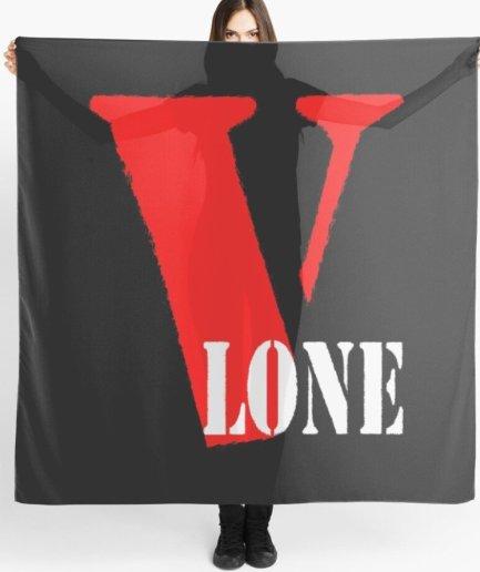 Vlone Text Printed black Scarf