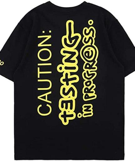 ASAP Testing Hip Hop Rapper T-Shirt Back
