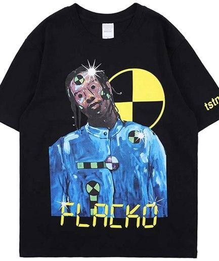 ASAP Testing Hip Hop Rapper Black T-Shirt