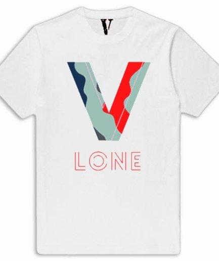 Vlone Camo Staple White T-Shirt