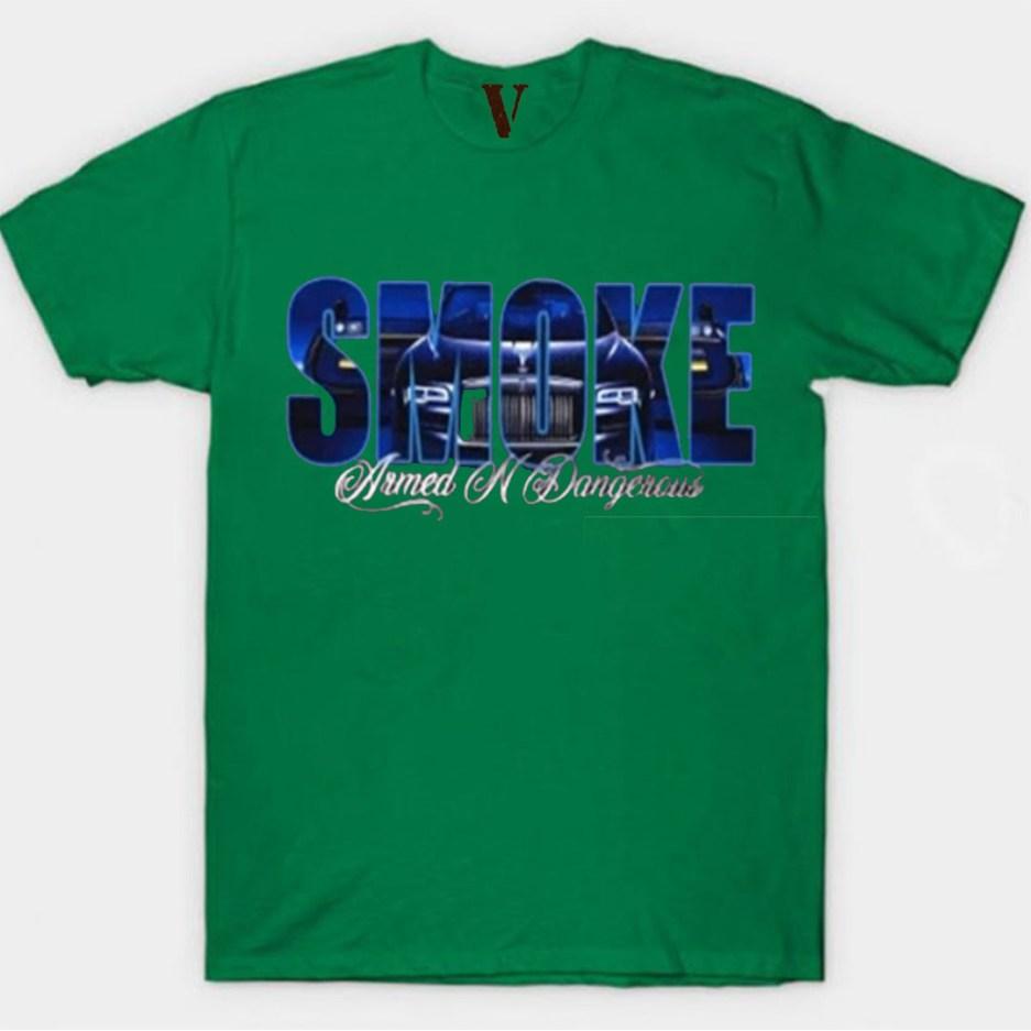 Vlone x Pop Smoke Armed N Dangerous Green T-Shirt
