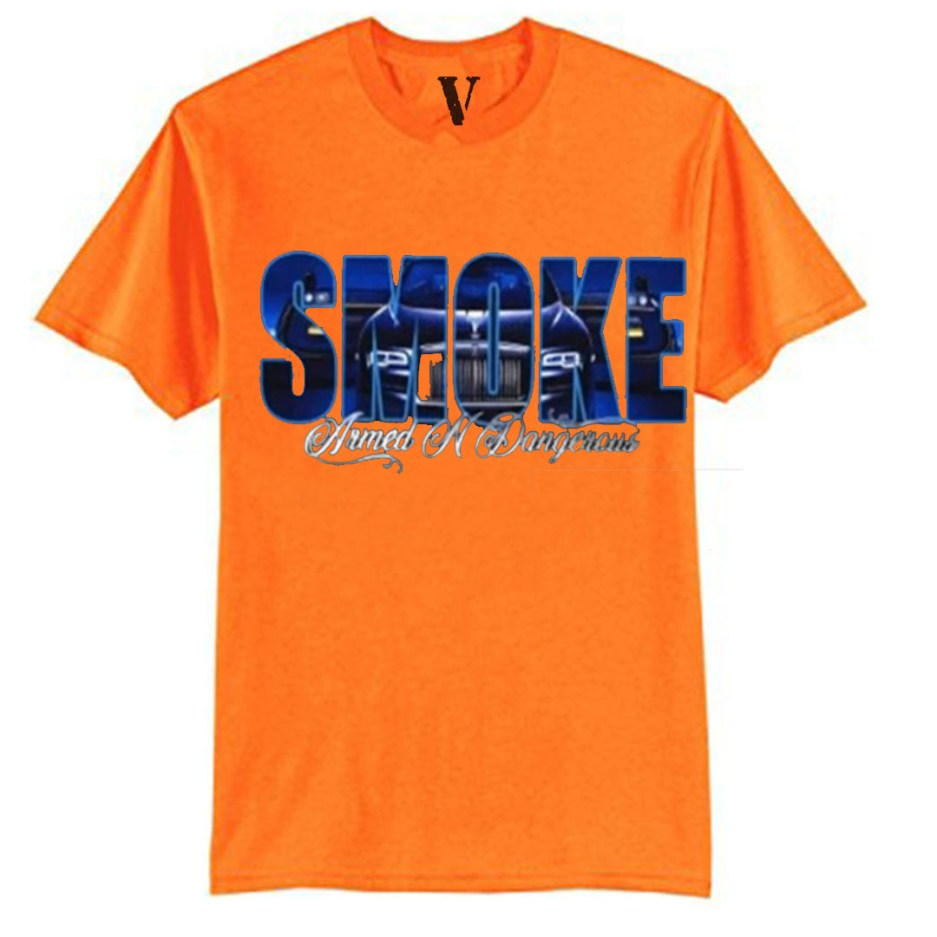 Vlone x Pop Smoke Armed N Dangerous Orange T-Shirt