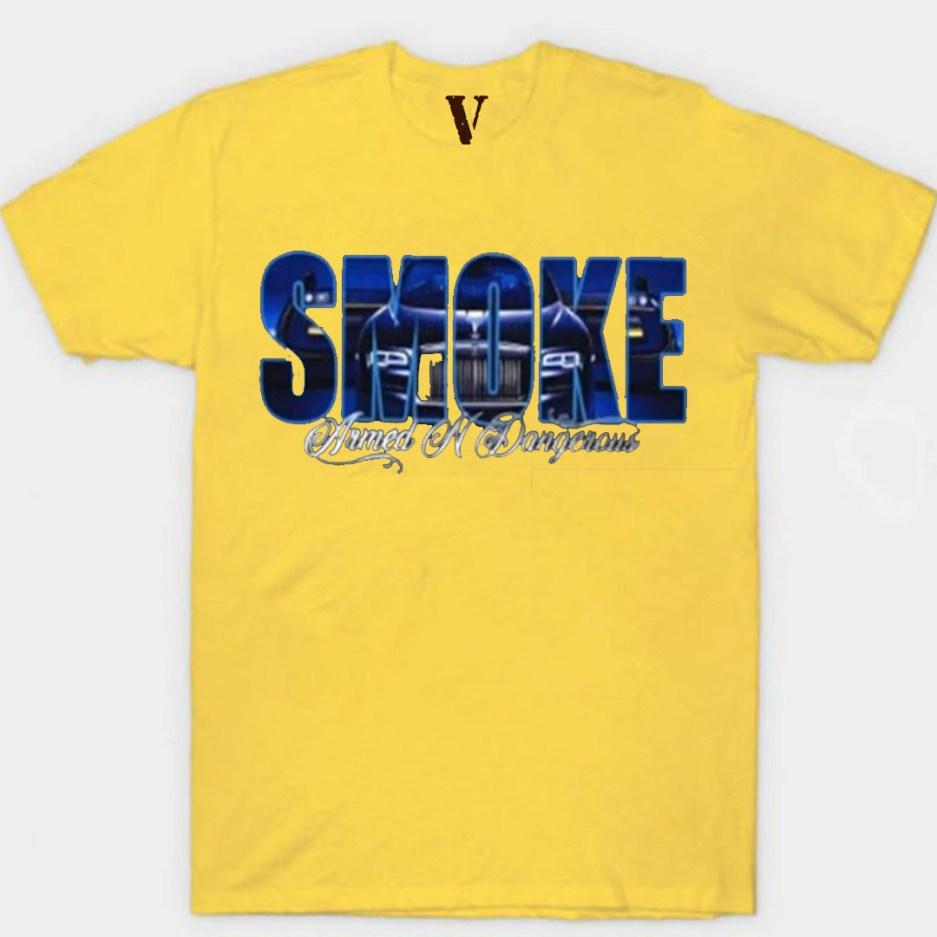 Vlone x Pop Smoke Armed N Dangerous Yellow T-Shirt