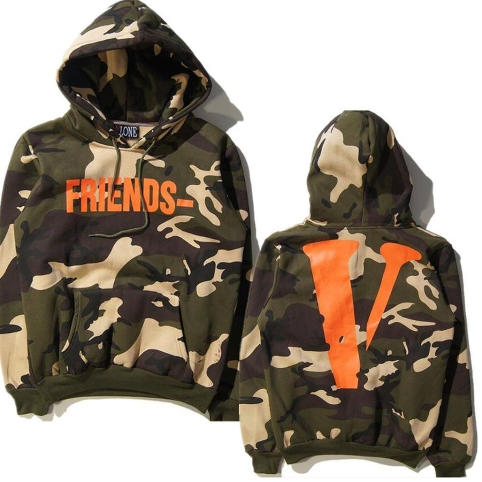 Best of Vlone Friends Camo Hoodie FRIENDS Print VLONE Staple Reversible Hoo Hoody Camouflage Virgil Suggestions