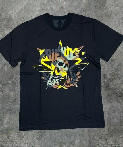 VLONE x Call of Duty Friends Yellow Camo on Black T-shirt