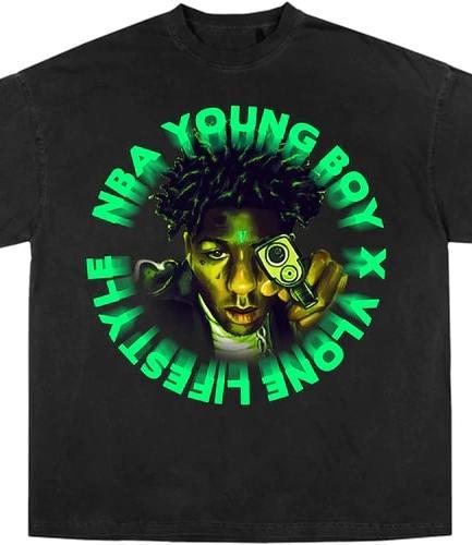 YoungBoy NBA x Vlone Cross Roads Tee