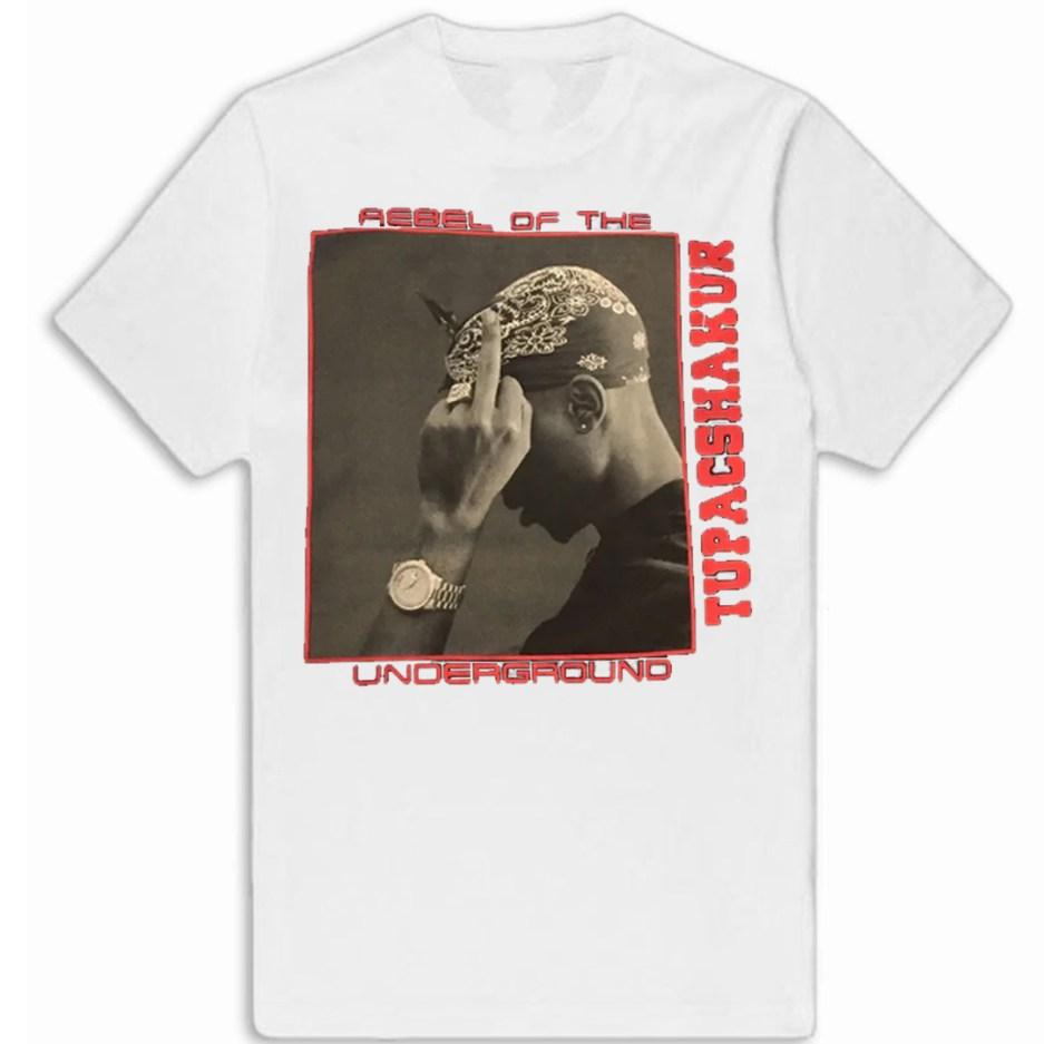 Vlone x Tupac Rebel Of The Underground Tee - white