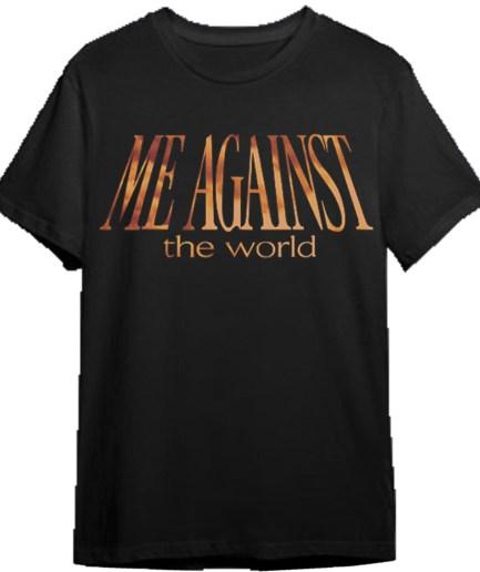 Vlone x Tupac Me Against the world Black T-Shirt