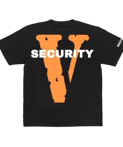 Vlone Security Black Tee
