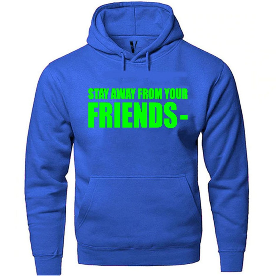 Vlone Stay Away From Your Friends Hoodie Blue