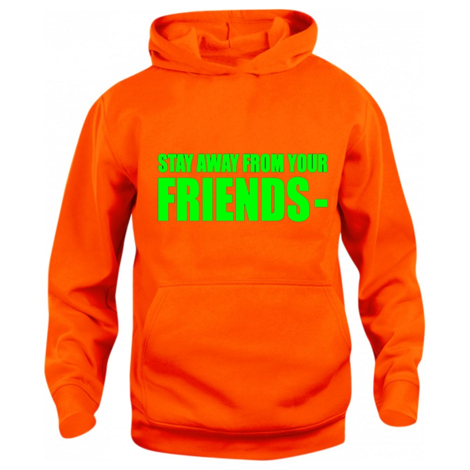 Vlone Stay Away From Your Friends Hoodie Orange