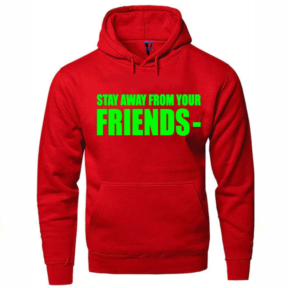 Vlone Stay Away From Your Friends Hoodie Red