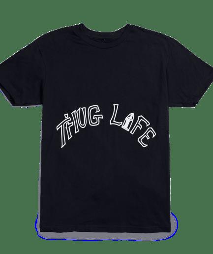 Vlone x Tupac Thug Life Tattoo Black T-Shirt