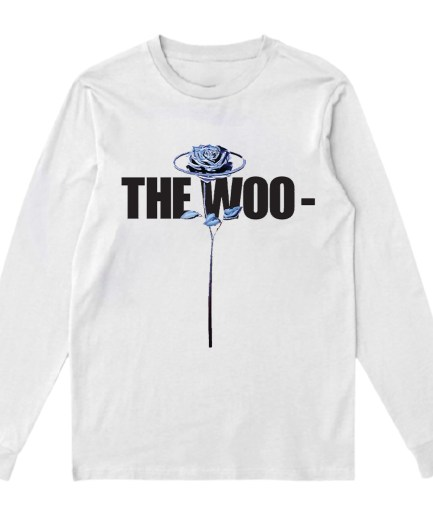 Vlone x Pop Smoke The Woo Sweatshirt-White