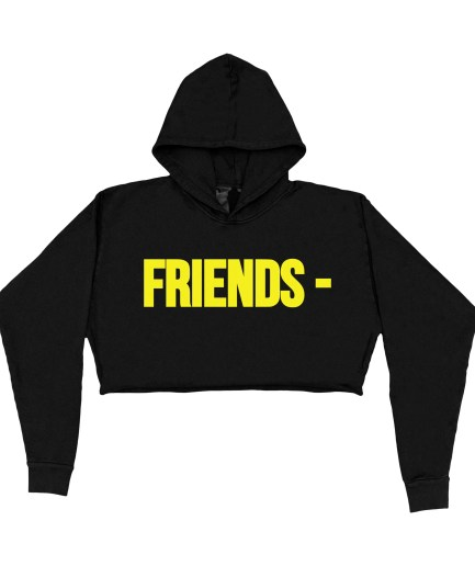 FRIENDS - Yellow Hoodie - Black - Womens (Front)