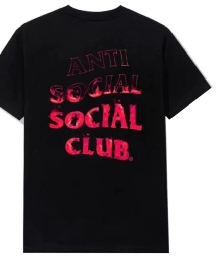 Anti Social Social Club A Fire Inside Pink Flame Tee-Front