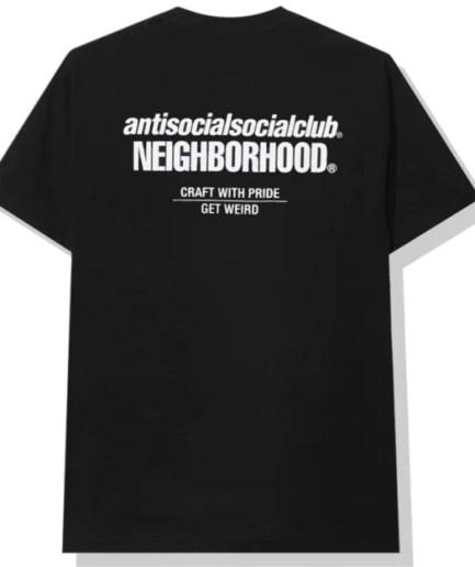 Anti Social Social Club x Neighborhood Black Tee-Front