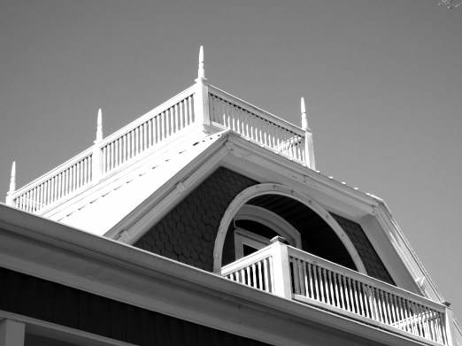 Old Victorian home, widows walk and balcony.