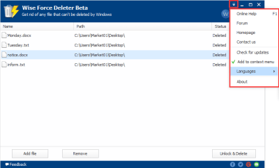 Wise Force Deleter 1.47 Crack Full Free Download