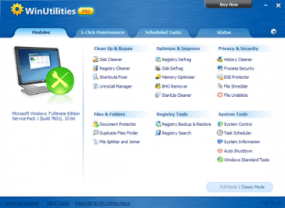 WinUtilities Professional Edition 15.74 Crack With Serial Key Full Free