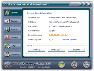 DirectX Happy Uninstall 6.92 Crack With Serial Key Latest 2020