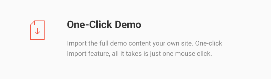 One-Click Demo