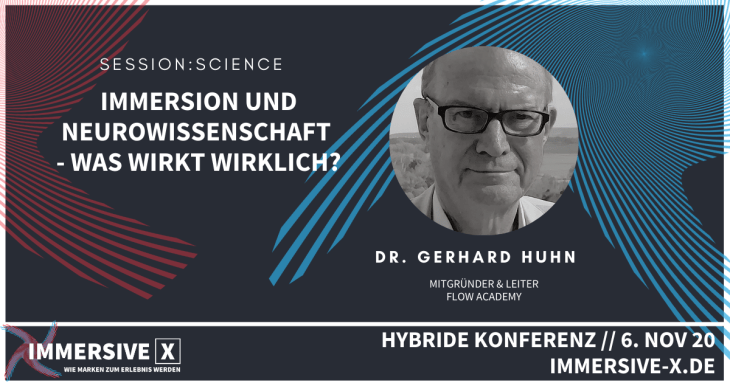 IMMERSIVE X Session Science Dr. Gerhard Huhn