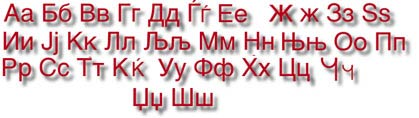The Macedonian Alphabet