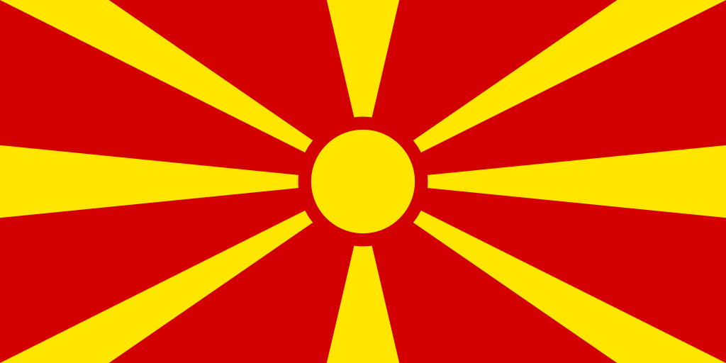 The flag of Republic of Macedonia.