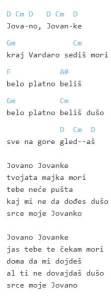 Jovano, Jovanke Guitar Chords