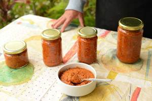 Ajvar, traditional Macedonian appetizer.