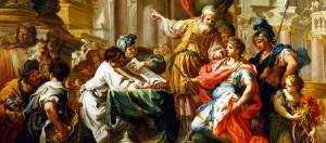 Alexander at the temple of Jerusalem.