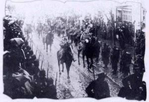 Greek Army entering Solun 1912
