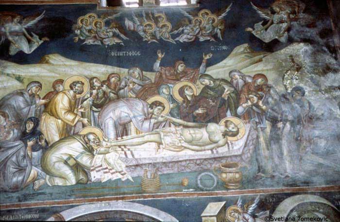 Lamentation of Christ, St. Mary Perivleptos, 13th century