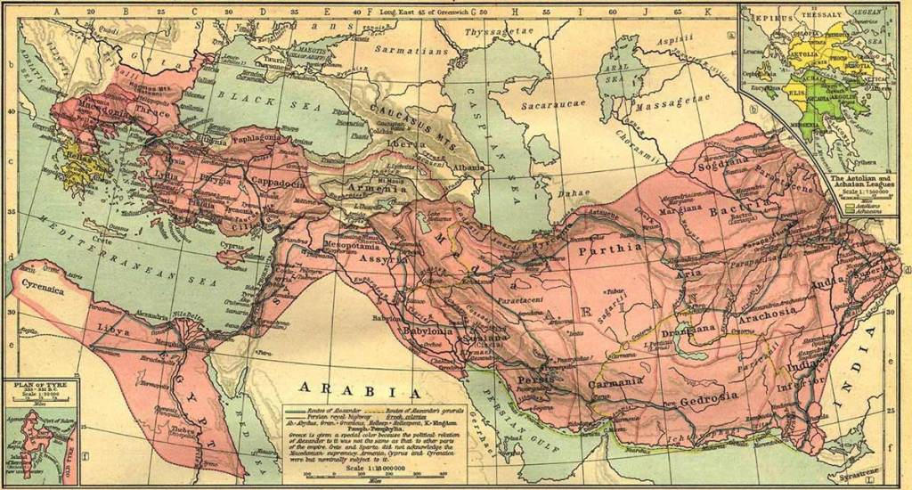 Alexander's Empire at its height