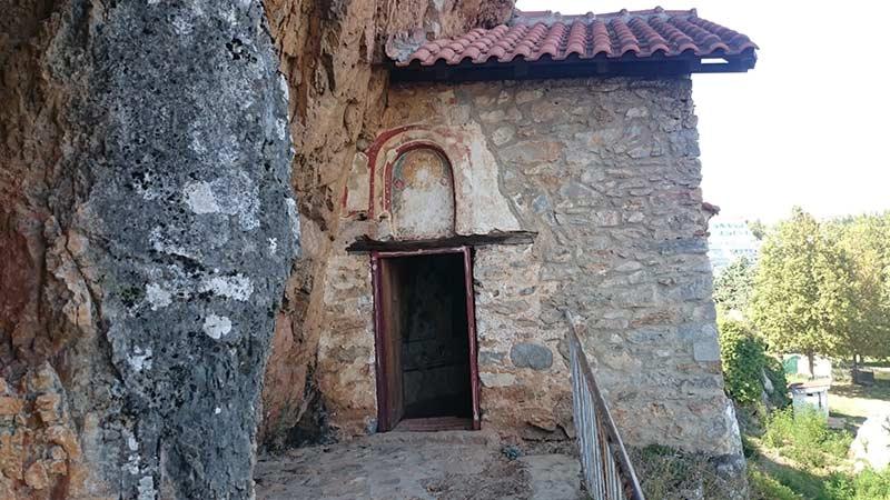 St. Athanasius cave church entrance