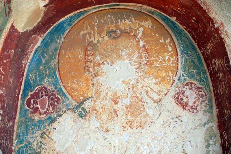 Fresco in St. Athanasius cave church