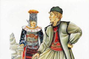 Bridal and man's costumes, Skopska Crna Gora