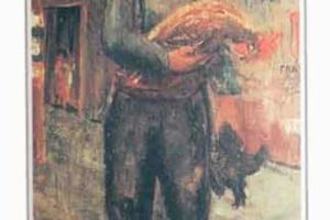 Man with a rooster 1933