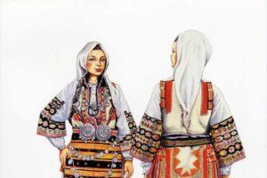 Woman's costume, Poreche - Brodsko