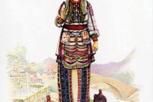 Bridal costume, Polog, Tetovo - village Chelopek.