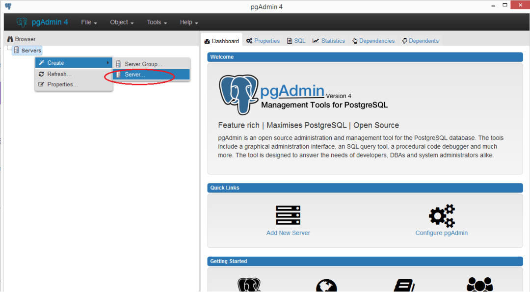 pgadmin-addserver